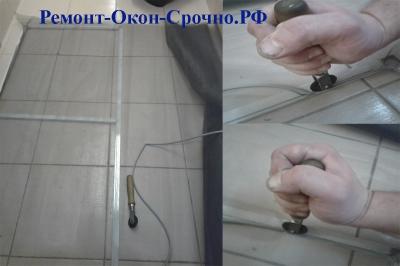 ремонт москитной сетки своими руками